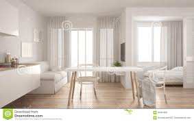 100 Small Apartments Interior Design Modern Minimal Kitchen And Living Room With Bedroom In The