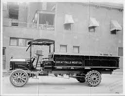 100 Packard Trucks 1915 Truck Of Great Falls Meat Co Parked On Street Next To