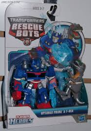 Transformers Rescue Bots Optimus Prime And T-rex (Rescue Bots 2-Pack ...