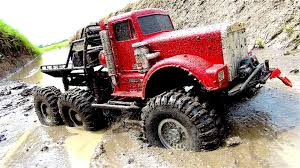 100 Rc Truck With Plow Big Red 6X6 Off Road Mud Action By Insane RC Will Blow You