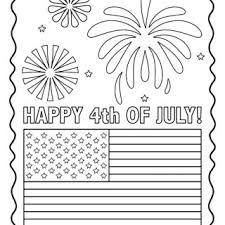 Nod Printable Coloring Page Happy 4th Of July