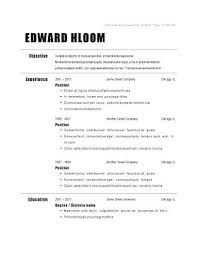 Simple Resume Examples For Jobs Example Professional Basic Job Template Templates