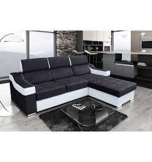 canape d angle noir et blanc canapé d angle convertible et réversible caliente le depot bailleul