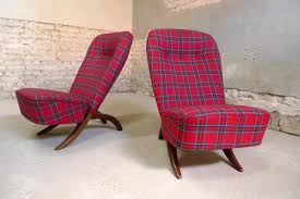 Canvas Congo Lounge Chairs By Theo Ruth For Dux, 1950s, Set Of 2