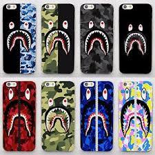 Camo Bape Camouflage Shark Design Hard Case Cover For iPhone 5 6 7