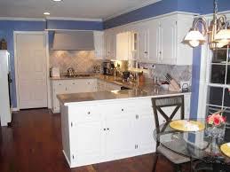 white kitchen cabinets blue walls kitchen decoration