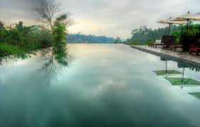 100 Bali Infinity Wallpaper HDR Pool Sky Umbrella Infinity Calm Morning