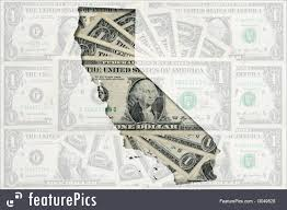 Signs And Info Outlined California Map Of With Transparent Background US Dollar Banknotes