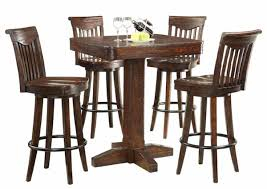 Rustic Bar Height Dining
