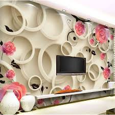 Free Shipping Individuality Brief Tv Background Wallpaper 3d Hd Rose Qiangbu Wall Stickers