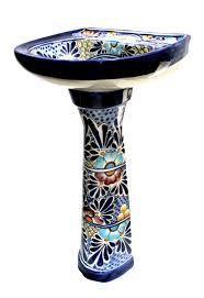 18 Inch Pedestal Sink by Mexican Talavera Pedestal Sink U0027cancun U0027 Terra Artesana