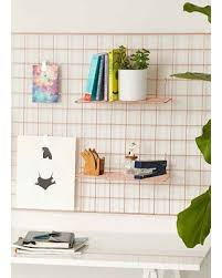 Wire Wall Grid ShelfCOPPERONE SIZE