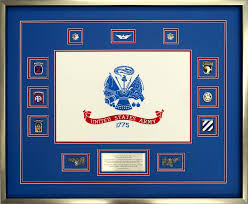 Custom Flag Display Case Featuring The US Army