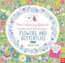 National Trust The Colouring Book Of Cards And Envelopes Flowers Butterflies