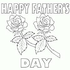 Fathers Day Flowers Coloring Pages