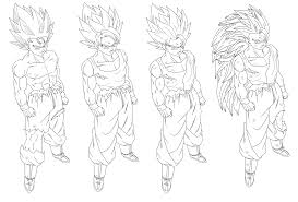 Coloriage Goku Ultra Instinct Great Dragon Ball Gt Pages A Colorier