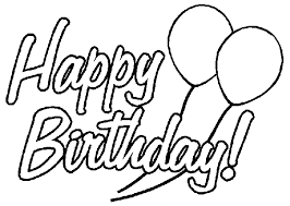 Birthday Balloons Coloring Pages Hello Kitty