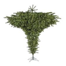 Vickerman 75 Ft Pre Lit Upside Down Artificial Christmas Tree With 650 Constant