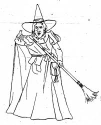 Free Printable Wizard Of Oz Coloring Pages Wicked Witch The West