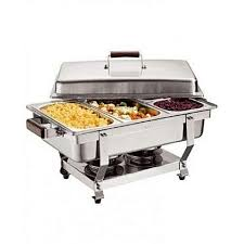 Chafing Dish Stainless Steel 3Tray Buffet Catering