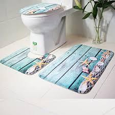 feiliandajj 3pcs badematten set rutschfest teppiche 3er badgarnitur badezimmer matte set 3d muster dusch bade matte vorleger teppich für wohnzimmer