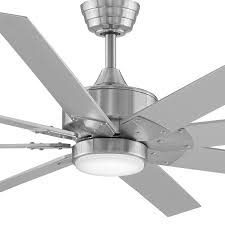 Brushed Nickel Ceiling Fan With Gray Blades by Levon Dc Led Ceiling Fan By Fanimation Ylighting