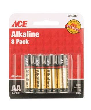 Ace Alkaline Batteries - 8 Pack, AA