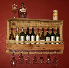 glittering wine kitchen decor sets of reclaimed pallet wood rack