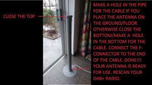 home made diy dab antenna also for dvb t