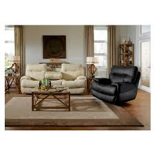 Evian Cream Power Motion Leather Recliner