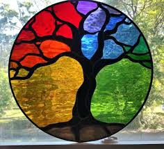 Simple Stained Glass Patterns Window Also Tree Designs