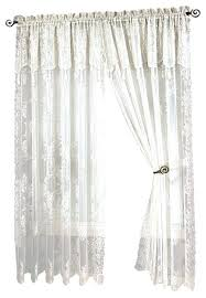 White Lace Curtains Target by White Balloon Shade Curtains Sheer Voile Cafe Panel Kitchen