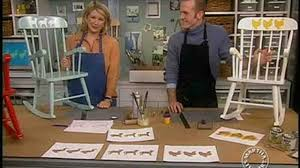 How To Stencil A Child's Rocking Chair