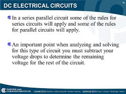16 DC ELECTRICAL CIRCUITS In A Series Parallel Circuit Some Of The Rules For Circuits