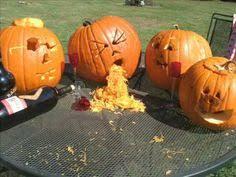 Pumpkin Guacamole Throw Up Buzzfeed by Drunk Pumpkin Throwing Up Halloween Pinterest Pumpkin