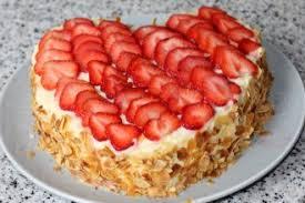 dessert aux fraises gâteau fraises gâteau aux fraises recette gâteau aux fraises coeur