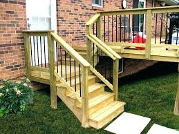 Stairs Railing Height Porch Steps Handrail Outdoor Step Ideas More With Exterior Stair Decorations 19