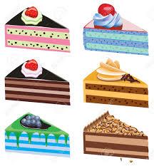 Drawn cake cake slice 4