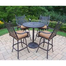 5 Piece Bar Height Patio Dining Set by Cosco Outdoor 5 Piece Serene Ridge Aluminum Patio Dining Set Dark