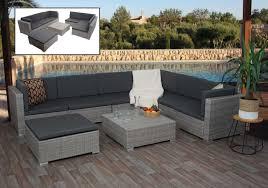 poly rattan garnitur hwc g79 balkon garten lounge set gartenmöbelset sitzgarnitur sofa grau kissen dunkelgrau
