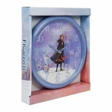 details zu 24cm disney frozen 2 elsa olaf lila uhr wand schlafzimmer kinder geschenk
