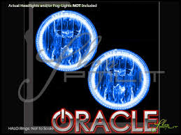 06 10 hummer h3 led dual color halo rings fog lights bulbs