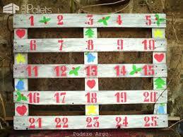Christmas Advent Calendar Pallet Wall Decor Painting