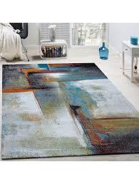 paco home designer teppich modern kurzflor wohnzimmer trendig meliert braun beige creme klingel