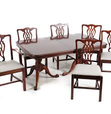100 Duncan Phyfe Folding Chairs Cherry Dining Table And Six EBTH