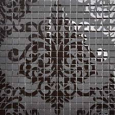 glass tile black mosaic collages design interior wall tile murals