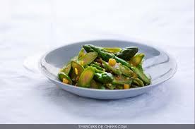 cuisine asperge recette chef adelien grattard yam tcha asperge verte mangue chablis