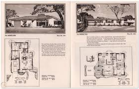 100 Modern Home Blueprints 1950 MID CENTURY MODERN HOME PLANS Small Homes Ranch 3