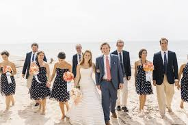 unique bridesmaid dresses in stripe and polka dot prints wedding