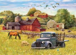 100 Truck Farms Blue Farm Jigsaw Puzzle PuzzleWarehousecom